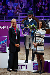 Graves Laura, USA<br /> Grand Prix Freestyle<br /> Longines FEI World Cup Dressage, Omaha 2017 <br /> © Hippo Foto - Stefan Lafrentz<br /> 01/04/2017