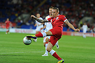 Craig Bellamy of Wales. Euro 2012 Qualifying match, Wales v Montenegro at the Cardiff City Stadium in Cardiff  on Friday 2nd Sept 2011. Pic By  Andrew Orchard, Andrew Orchard sports photography,