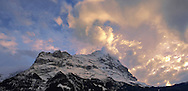 The Noprth Face of the Eiger Mountain at sunset from Grindelwald - Swiss Alps .<br /> <br /> Visit our SWITZERLAND  & ALPS PHOTO COLLECTIONS for more  photos  to browse of  download or buy as prints https://funkystock.photoshelter.com/gallery-collection/Pictures-Images-of-Switzerland-Photos-of-Swiss-Alps-Landmark-Sites/C0000DPgRJMSrQ3U