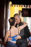 Couple dancing, La Boca, Buenos Aires, Argentina, South America