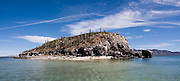 The small island Isla Pitahaya in Bahia de Concepcion, Sea of Cortez, Baja California Sur, Mexico.