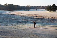 LOCHEM - Tee hole 1. Lochemse golfclub de Graafschap in de winter. COPYRIGHT KOEN SUYK