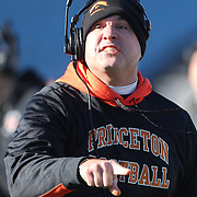 Bob Surace, Princeton Football Tigers Head Coach during the Yale Vs Princeton, Ivy League College Football match at Yale Bowl, New Haven, Connecticut, USA. 15th November 2014. Photo Tim Clayton