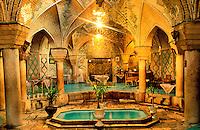 Iran, Kerman, Maison de thé // Tea house (chaïkhana), Kerman, Iran