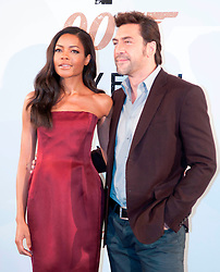 Actors Naomie Harris and Javier Bardem during the 007 Skyfall film photocall, Villa Magna Hotel. Madrid. Spain, October 28, 2012. Photo by Eduardo Dieguez / DyD Fotografos / i-Images...SPAIN OUT