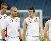 Photo: Chris Ratcliffe.<br />England Training Session. FIFA World Cup 2006. 30/06/2006.<br />Paul Robinson and Michael Carrick in training.