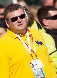 Tomaz Lovse, president of SZS during 2nd Run of 8th Men's Giant Slalom - Pokal Vitranc 2012 of FIS Alpine Ski World Cup 2011/2012, on March 10, 2012 in Vitranc, Kranjska Gora, Slovenia.  (Photo By Vid Ponikvar / Sportida.com)