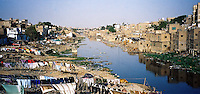 Pakistan, Karachi, 2004. River dwellers manage to eke out a living out near Karachi's toxic and often dry waterways.