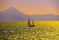 Turkish coastline (sailing between the islands of Rhodes and Symi, Greece)