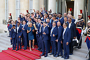 FOOTBALL - 2018 FIFA WORLD CUP RUSSIA - RECEPTION OF THE FRENCH TEAM AT THE ELYSEE 160718