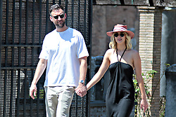 EXCLUSIVE: Jennifer Lawrence and boyfriend Cooke Maroney spotted in Rome. 16 Aug 2018 Pictured: Jennifer Lawrence, Cooke Maloney. Photo credit: MEGA TheMegaAgency.com +1 888 505 6342