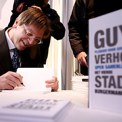 """Belgium - Brussels - 20 December 2006 - Presentation of the book """" pleading for an open society the fourth citizen manifest """" written by the belgian prime minister, Guy Verhofstadt. © Scorpix / P.Mascart"""