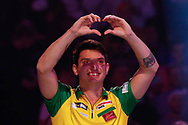 Diogo Portela about to do the walk-on during the Darts World Championship 2018 at Alexandra Palace, London, United Kingdom on 18 December 2018.