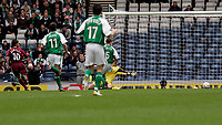 Photo: Tom Ross. Hibernian v Hearts. Tennants Scottish Cup, Semi-Final. 02/04/2006.Paul Hartley puts Hearts 1-0 up with the first of his three goals.