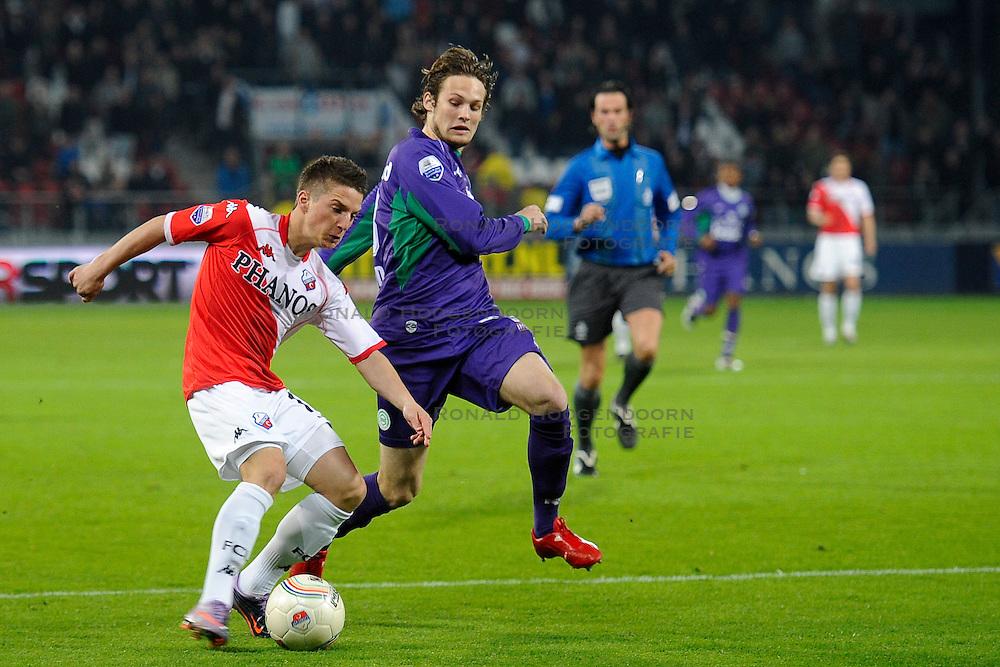 14-04-2010 VOETBAL: FC UTRECHT - FC GRONINGEN: UTRECHT<br /> Daley Blind en Dries Mertens<br /> ©2010-WWW.FOTOHOOGENDOORN.NL