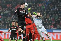 v.l. Kai Havertz, Ante Rebic, Torwart Lukas Hradecky (Frankfurt)<br /> Leverkusen, 11.02.2017, Fussball Bundesliga, Bayer 04 Leverkusen - Eintracht Frankfurt 3:0<br /> <br /> Norway only