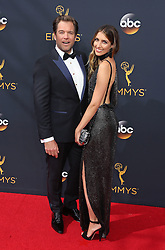 Michael Weatherly, Bojana Jankovic arriving for The 68th Emmy Awards at the Microsoft Theater, LA Live, Los Angeles, 18th September 2016.