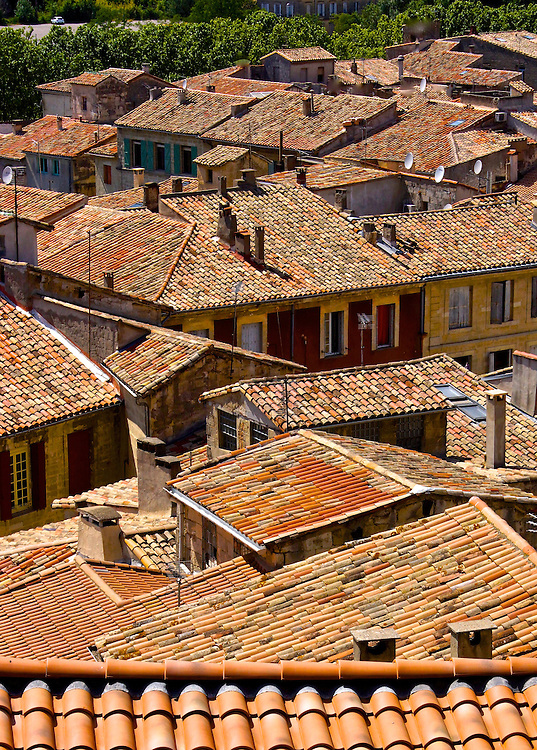Sommieres, South of France, Medieval Village, Tile Roofs