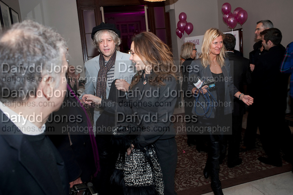 EANE-MARINE; SIR BOB GELDOF, Savoy Theatre's Legally Blonde- The Musical,  Gala night. After-party at the Waldorf Hilton. London. 13 January 2010. *** Local Caption *** -DO NOT ARCHIVE-© Copyright Photograph by Dafydd Jones. 248 Clapham Rd. London SW9 0PZ. Tel 0207 820 0771. www.dafjones.com.<br /> EANE-MARINE; SIR BOB GELDOF, Savoy Theatre's Legally Blonde- The Musical,  Gala night. After-party at the Waldorf Hilton. London. 13 January 2010.