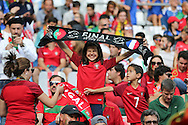 Young Portugal fan during the Euro 2016 final between Portugal and France at Stade de France, Saint-Denis, Paris, France on 10 July 2016. Photo by Phil Duncan.