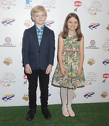 Voice actors in the film Ozzie Latta and Elsie Cavalier attend a screening of We're Going on a Bear Hunt at the Empire Leicester Square in central London.