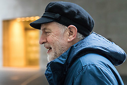 London, January 28 2018. Labour Leader Jeremy Corbyn attends the Andrew Marr Show at the BBC's New Broadcasting House in London.. © Paul Davey