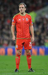 David Vaughan of Wales - Mandatory byline: Dougie Allward/JMP - 07966 386802 - 13/10/2015 - FOOTBALL - Cardiff City Stadium - Cardiff, Wales - Wales v Andorra - European Qualifier 2016 - Group B