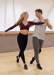 EMBARGOED TO 0001 FRIDAY OCTOBER 5 Strictly Come Dancing contestants Lee Ryan and Nadiya Bychkova practice their latest dance routine at a dance studio in London.