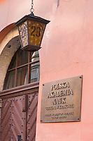 Polska Akademia Nauk or Polish Academy of Sciences Cracow Branch seen in Krakow Poland