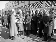 St Patrick's Day Parade.1982.17/03/1982.03.17.1982.17th March 1982..Picture shows a prayer being said precededing the distribution of shamrock.