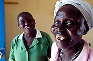 Sarah Mallia and Rose a HIV positive patient at the VCT center at the Nimule Hospital. Rose helped start the hospital's HIV support group.