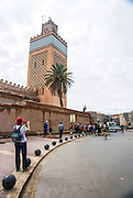 Minaret of the Koutoubia Mosque, Marrakesh, Morocco