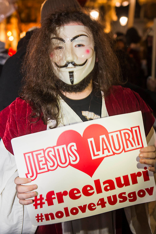 """Jesus makes an appearance during the gathering in Trafalgar Square is pretty friendly but with a strong police presence - The Million Mask March - anti-establishment protesters in V for Vendetta-inspiredGuy Fawkes masks march from Trafalgar Square to Parliament Square. It was organised by Anonymous, the anarchic 'hacktivist' network. The movement is also closely identified with the Occupy protests, Wikileaks, and the Arab Spring. The UK Anonymouswebsitedescribes the march on Parliament as a """"protest against austerity … the infringement of our rights … mass surveillance … war crimes … corrupt politicians."""""""