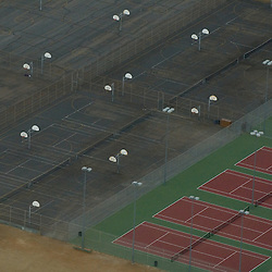Aerial views of Basketball and tennis courts