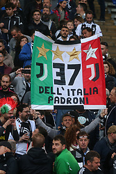 May 12, 2019 - Rome, Lazio, Italy - Roma, Lazio, Italy, 12-05-19, Italian football match between As Roma - Juventus at the Olimpico Stadium in picture Fans of the Juventus in roma  , the final score is  0-2 for As Roma  (Credit Image: © Antonio Balasco/Pacific Press via ZUMA Wire)