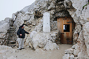 World War I tunnel system on Mount Marmolada in northeastern Italy. The highest mountain of the Dolomites