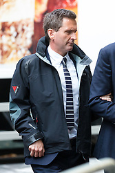 © Licensed to London News Pictures. 19/08/2019. London, UK.  Lord Chris Holmes of Richmond arrives at Southwark Crown Court in London today, accused of sexual assault. Nine-time Paralympic swimming champion, Holmes is accused of touching the alleged victim at a hotel in central London. Photo credit: Vickie Flores/LNP