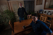 COLUMBIA, MD -- 12/20/14 -- Mark Johnson-Lewis, 48, and his son, Tyler Lewis, 22, talk about the complexity of being a biracial family..…by André Chung #_AC17516