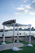 decorated stand for a wedding ceremony