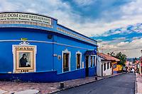 Bogota , Colombia  - February 23, 2017 : colorful Streets  in La Candelaria area Bogota capital city of Colombia South America