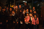 USAIN BOLT AND FANS, Fundraising Gala for the Zeitz foundation and Zoological Society of London hosted by Usain Bolt. . London Zoo. Regent's Park. London. 22 November 2012.