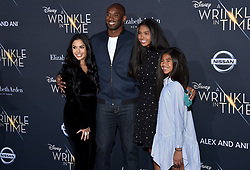 Kobe Bryant and Vanessa Bryant attend the premiere of Disney's 'A Wrinkle In Time' at the El Capitan Theatre on February 26, 2018 in Los Angeles, CA, USA. Photo by Lionel Hahn/AbacaPress.com