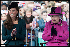 HM The Queen and Duchess of Cambridge