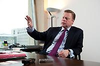 21 JAN 2010, BERLIN/GERMANY:<br /> Iaian Conn, Chief executive Refining and Marketing, Executive member of the BP board of directors, waehrend einem Interview, BP Buero Berlin<br /> IMAGE: 20100121-01-032
