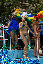 California: San Francisco Carnaval festival parade in the Mission District. Photo copyright Lee Foster. Photo # 30-casanf81375