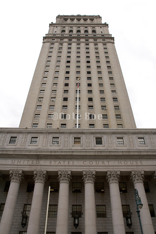 upward view of United States court house NYC