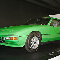 Porsche 924 standard (1976) in the Porsche Museum in Stuttgart, Germany