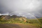 Rainbow over Alaska Range from Sable Pass, Denali National Park, Alaska