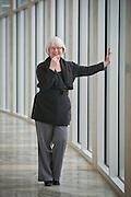 Environmental portrait of Sandy Edwards at Crystal Bridges Museum of American Art in Bentonville, ARk.