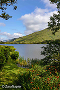 Kylemore Abbey, a view looking east across Pollacappul Lake just infront of the Abbey. A Benedictine community open seven days a week all year round. Located in Connemara in the west of Ireland. Built by Mitchell and Margaret Henry in the 1850's.